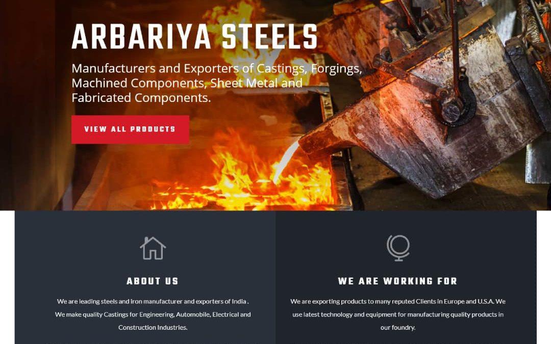 Arbariya Steels Website
